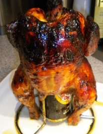 Ancho-Mango Beer Can Chicken