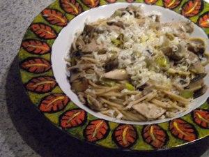 Spaghetti in Mushroom Wine Sauce