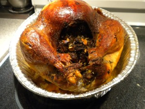 Mushroom Stuffed Roasted Turkey